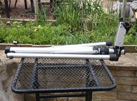 Bike stand, mini pumps x 2, upright pump, Topeak alien II tool