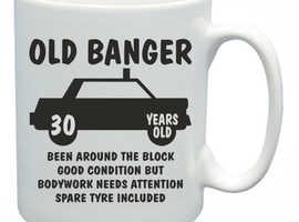 30th Novelty Birthday Gift Present Tea Mug Old Banger 30 Years Old Coffee Cu