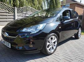 Vauxhall Corsa, 2017 (17) Black Hatchback, Manual Petrol, *** 9600 miles ***