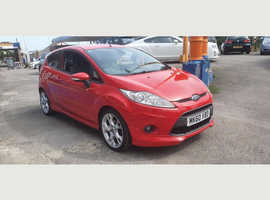 Ford Fiesta, 2010 (60) Red Hatchback, Manual Petrol, 12,000 miles