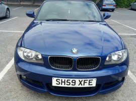 BMW 1 series, 2009 (59) Blue Convertible, Manual Petrol, 92,000 miles