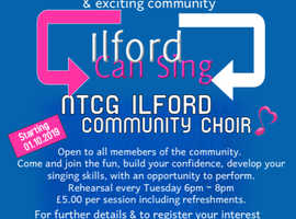 Come and join a new and excitng community choir - Ilford can sing!