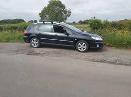 Peugeot 407, 2007 (57) Black Estate, Manual Diesel, 141216 miles