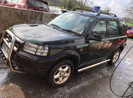 Land Rover Freelander, 2001 (51) Green Estate, Manual Petrol, 105,000 miles