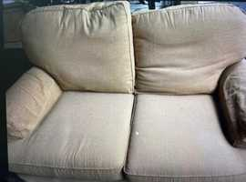 2 Seater Cream Sofa M&S