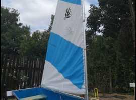23 feet mast and sail