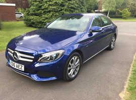 Mercedes C CLASS, 2016 (16) blue saloon, Automatic Petrol, 84000 miles