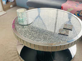 REDUCED! CRUSHED DIAMOND CRYSTAL COFFEE TABLE