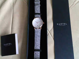 Kartel Kendrick Gold Watch,brand new,in gift box,with tags