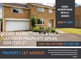 Landlords and Estate Agents Rent Properties Out Quickly and Cheaply with Advertising Videos