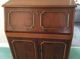 Solid wood writing bureau