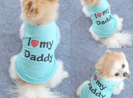 I Love My Daddy Mommy Pets Clothes T-shirt