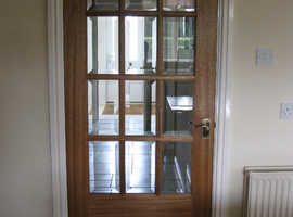 Internal hardwood glazed door