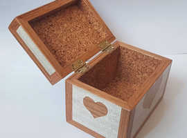 Wooden box with intarsia