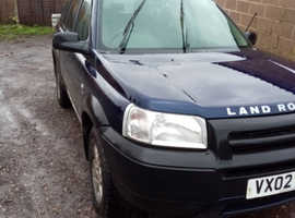 Land Rover Freelander, 2002 (02) Blue Estate, Manual Diesel, 120,690 miles