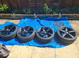 4x 17 x 7 calibra wheels