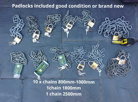 12x padlock and chains