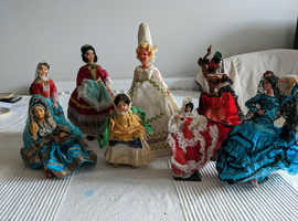 Collection Of 8 Vintage Foreign Dolls