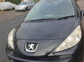 Peugeot 207, 2007 (07) Black Hatchback, Manual Petrol, 105,000 miles