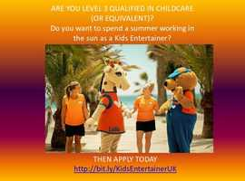 Kids Entertainer Level 3 Qualified (or equivalent)