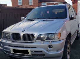 BMW X5 SPORT, 2002 (52) silver sports, Automatic Diesel, 80,000 miles