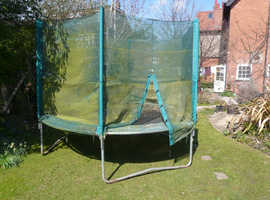 10ft Trampoline with recently replaced safety net