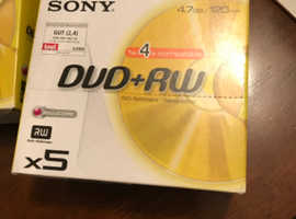 Sony DVD+RW blank discs 5 in packet