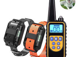 DOG COLLAR WATERPROOF RECHARGEABLE ELECTRIC DOG