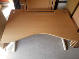 Office desk with storage cabinet