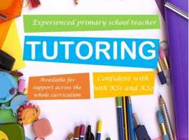 Experienced primary school teacher available for tutoring