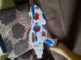 White and blue toy gun