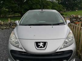 Peugeot 207, 2009 (09) Silver Convertible, Manual Petrol, 72,200 miles