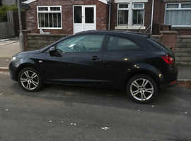 Seat Ibiza, 2009 (09) Black Hatchback, Manual Petrol, 104,000 miles