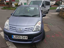 Nissan Pixo, 2009 (59) Grey Hatchback, Manual Petrol, 17,447 miles