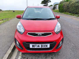 Kia Picanto VR7, 2014 (14) Red Hatchback, Manual Petrol, 28000 miles