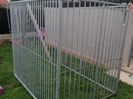 3 panel galvanised dog run