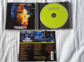 Virtuosity Denzel Washington Russell Crowe Rare Peter Gabriel Tori Amos Black The Heads (Talking Heads) Deborah Harry CD