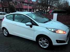 Ford Fiesta, 2014 (14) White Hatchback, Manual Petrol, 15,000 miles