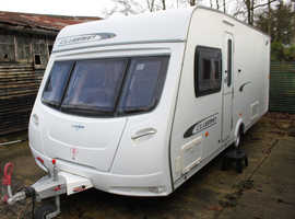 Lunar Clubman SI 2011 4 Berth Fixed Transverse Island Bed Caravan + Motor Movers + 3 Months Warranty Included