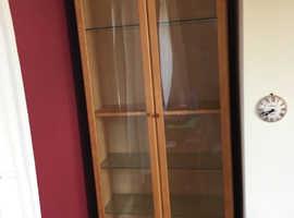 2 x Ikea Display Units with glass doors