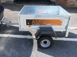 ERDE 102 TRAILER NEWLY ASSEMBLED UNUSED + CERTIFICATE OF CONFORMITY WITH SPARE WHEEL AND COVER