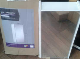 BNIB, in Wrapping, Bathroom Cabinet, Mirror Door, Gloss white, 2 shelves, Assembled, ready to fit