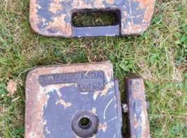 2 x 25kg front weights for compact tractor £80 ono total
