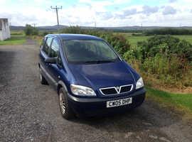 Vauxhall Zafira, 2005 (05) Blue MPV, Manual Petrol, 80,000 miles 7 SEATER... 12 MONTHS MOT