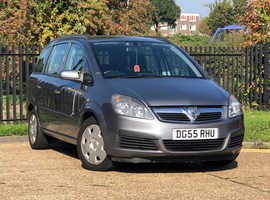 2005 (55) VAUXHALL ZAFIRA 1.6 LIFE Manual 5 Dr MPV in GREY, NEW 12 MONTH MOT, 7 SEATER
