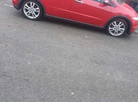 Honda Civic, 2011 (11) Red Hatchback, Manual Petrol, 59,033 miles