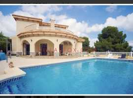 4 bedroom detached villa for swap to UK property or sold, 4 bedroom, 3 bathrooms, pool, 10 mins drive from beaches, Costa Calida Spain