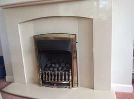 Beautiful stone resin fire surround