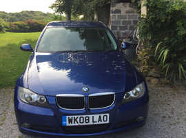 BMW 3 Series, 2008 (08) Blue Saloon, Automatic Diesel, 103,000 miles