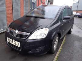 Vauxhall Zafira, 2009 (58) Black MPV, Manual Diesel, 112,792 miles